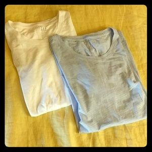 Gap Short Sleeved Crew Neck Slub Knit Basic Tees